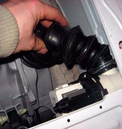 Устранение засора с разборкой стиральной машины